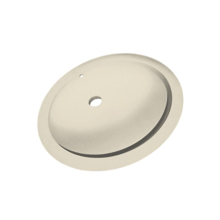 undermount kitchen sinks lowes butcher block cart shop swanstone bone solid surface oval bathroom ...