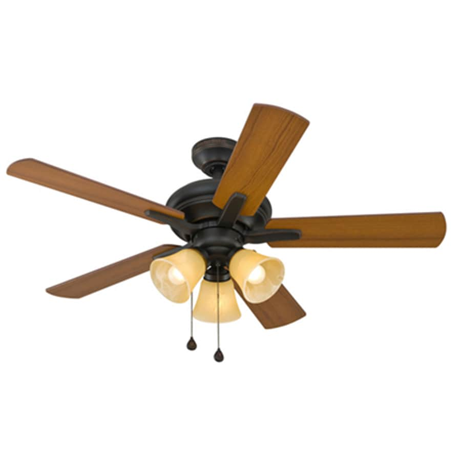 medium resolution of harbor breeze lansing 42 in oil rubbed bronze indoor ceiling fan with light kit 5 blade