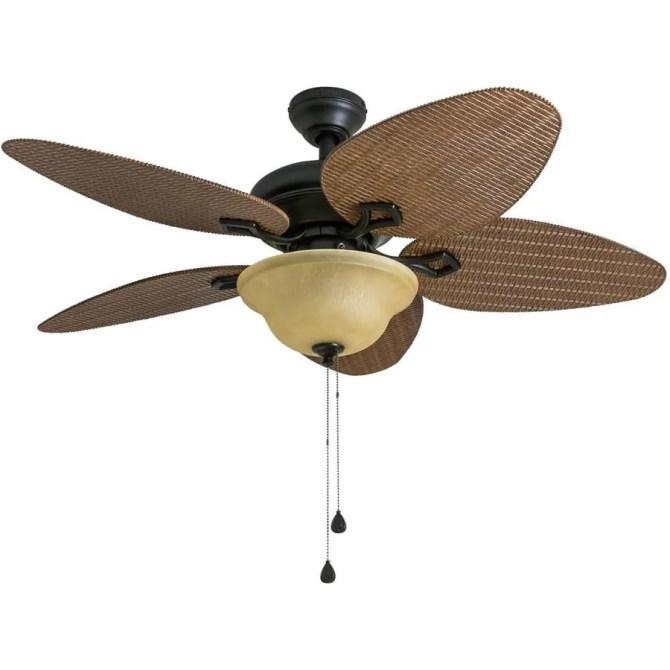 harbor breeze bridgeford 44in indoor/outdoor ceiling fan with light kit  5blade