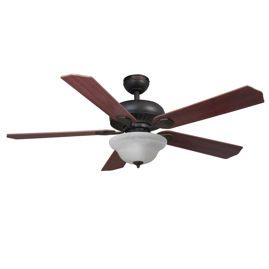 Shop Harbor Breeze 52in Oil Rubbed Bronze Downrod or Close Mount Indoor Ceiling Fan with Light