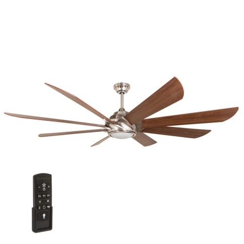 small resolution of harbor breeze hydra 70 in brushed nickel indoor ceiling fan with light kit and remote 8 blade