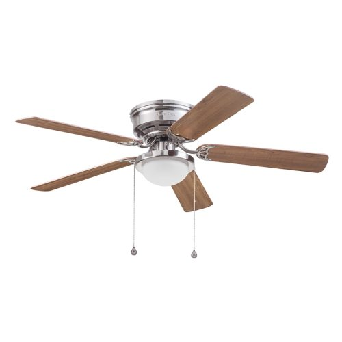 small resolution of harbor breeze armitage 52 in brushed nickel led indoor flush mount ceiling fan with light