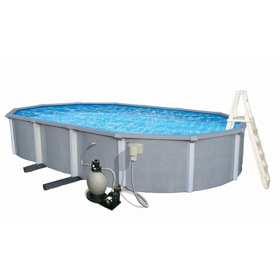 Blue Wave Zanzibar 41ft x 21ft x 54in Oval AboveGround Pool at Lowescom