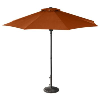 Island Umbrella Terra Cotta Market 9-ft Octagon Patio ...