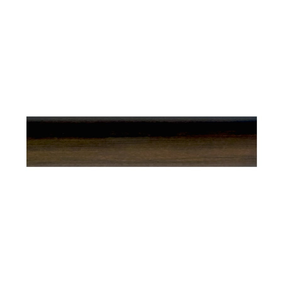 allen roth 96 mahogany round wood curtain rod