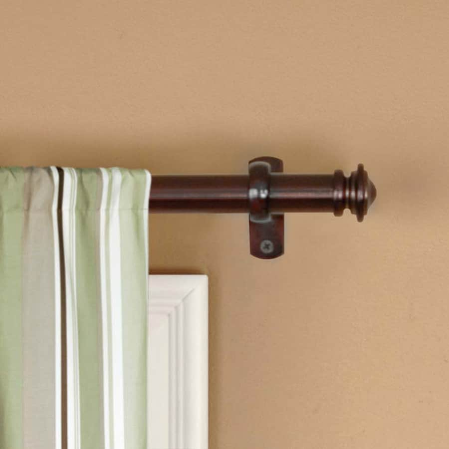 allen roth 72 in to 144 in sienna bronze steel single curtain rod in the curtain rods department at lowes com