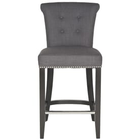 chair stool black kitchen pads target bar stools at lowes com safavieh addo ring counter charcoal