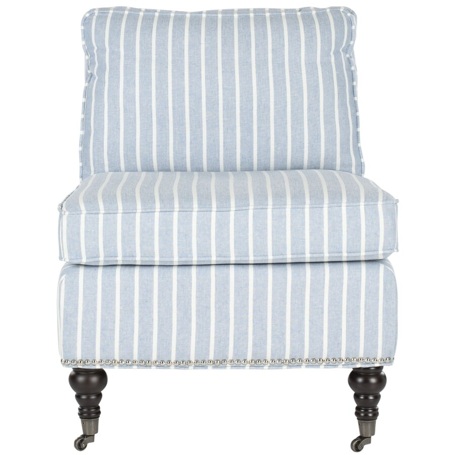 Blue And White Striped Chair Safavieh Randy Casual Blue With White Stripes Linen Club Chair At