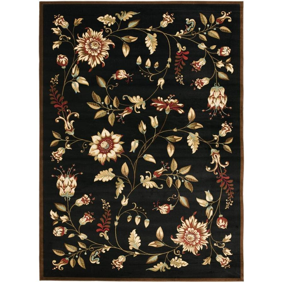 Safavieh Lyndhurst Floral Swirl Black Indoor Area Rug Common 8 x 11 Actual 8ft W x 11ft L