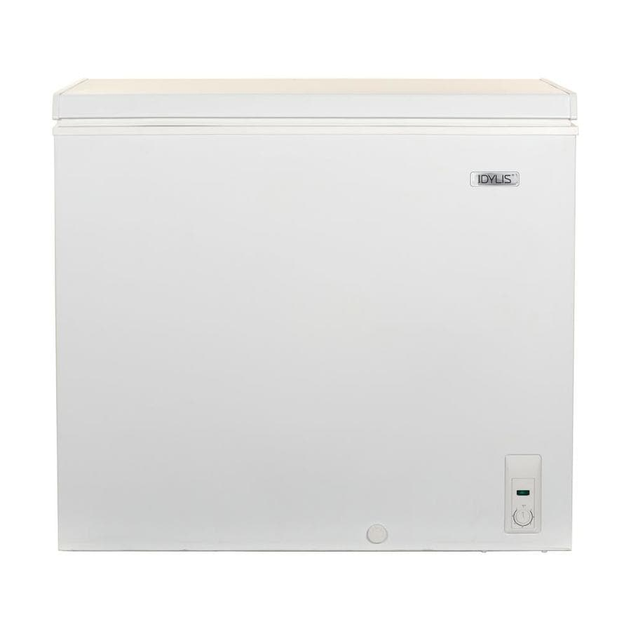 crosley kitchen cart appliances on sale shop idylis 7.1-cu ft chest freezer (white) at lowes.com