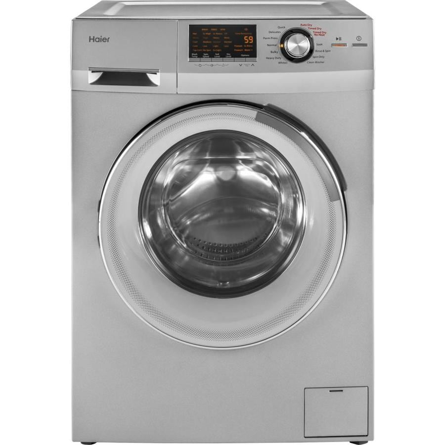 hight resolution of haier 2 cu ft ventless combination washer and dryer silver