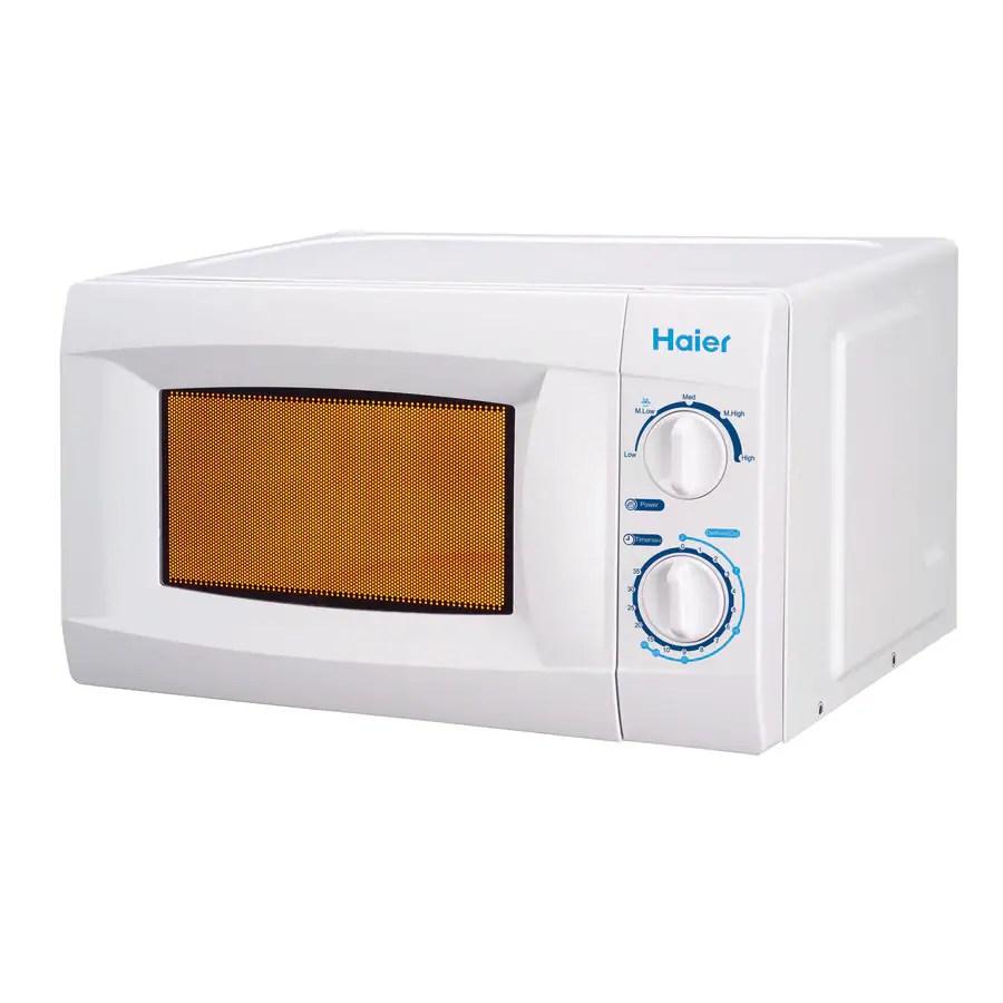 haier 0 6 cu ft 600 watt countertop microwave white
