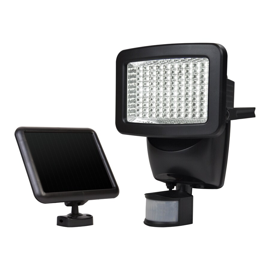 sunforce 180 degree 1100 lumen off white solar integrated led motion activated flood light with timer 100 pack