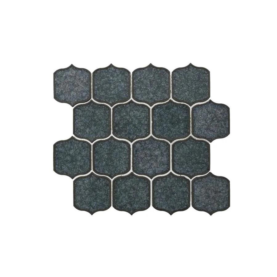 bedrosians theodora lapis 11 in x 12 in crackled ceramic lantern wall tile