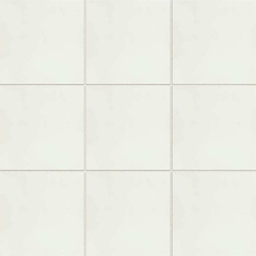 bedrosians remy 12 pack snow 8 in x 8 in matte cement encaustic tile
