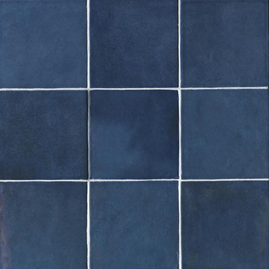 bedrosians cloe 57 pack blue 5 in x 5 in glossy ceramic wall tile