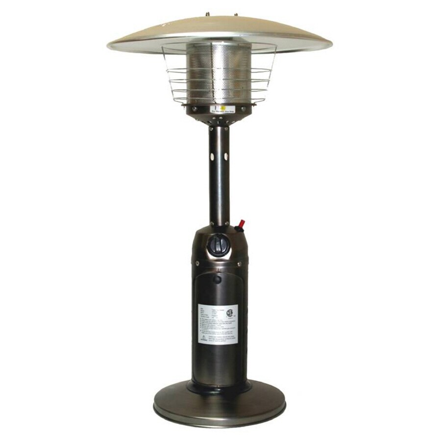 fire sense 10000 btu bronze steel liquid propane patio heater in the gas patio heaters department at lowes com