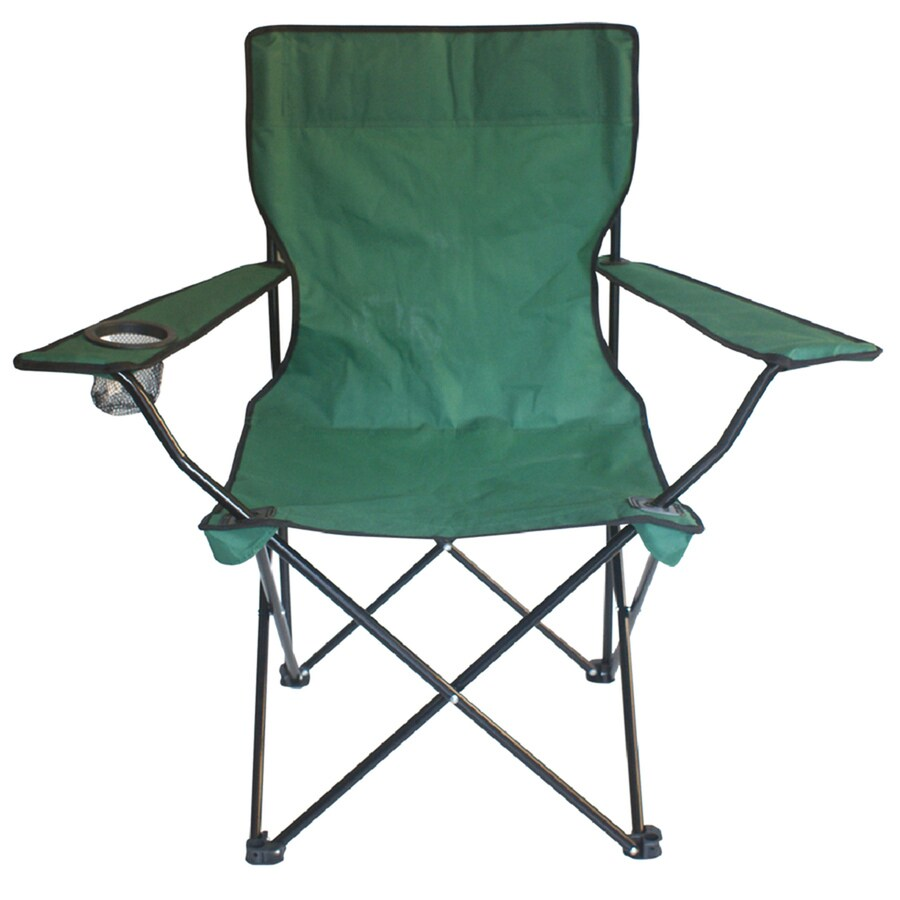 lowes camping chairs recaro office uk garden treasures green steel chair at com