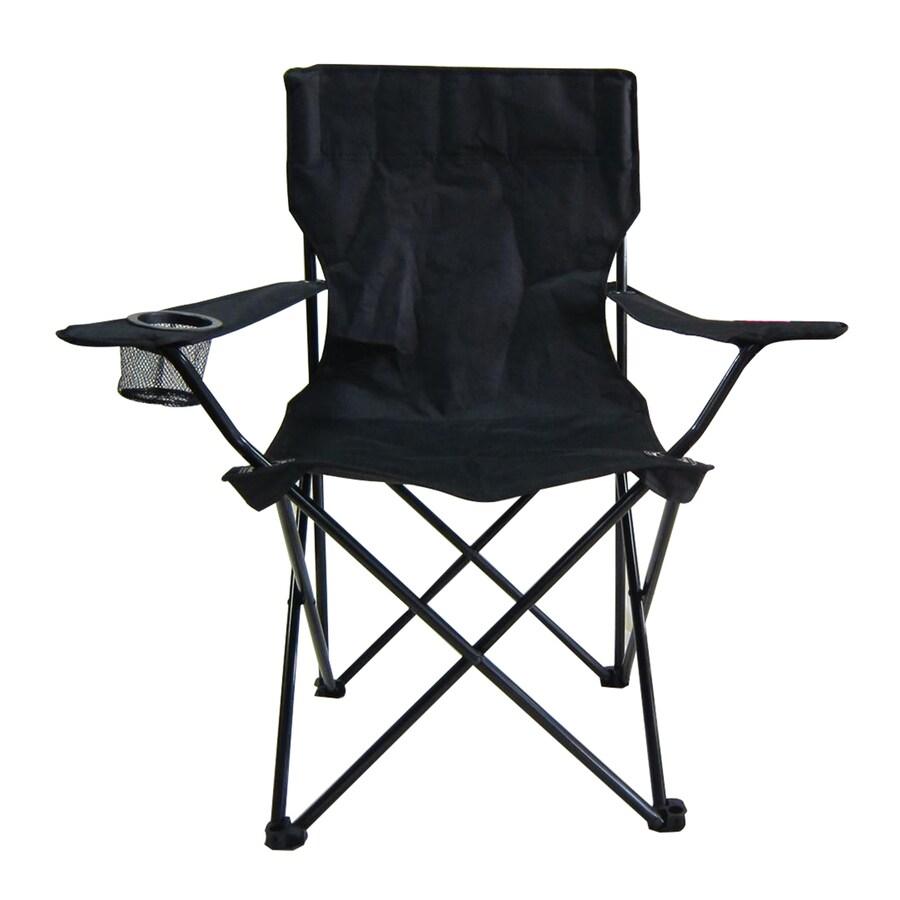Garden Treasures Black Steel Camping Chair at Lowescom