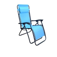 Turquoise Lounge Chair Ergonomic Dhaka Garden Treasures Steel Chaise E36 With Blue Sling At