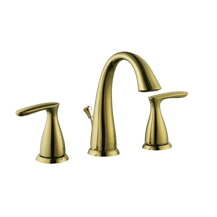 shop aquasource polished brass 2-handle widespread watersense
