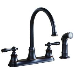 Oil Bronze Kitchen Faucet Samsung Appliances Aquasource Rubbed 2 Handle High Arc At