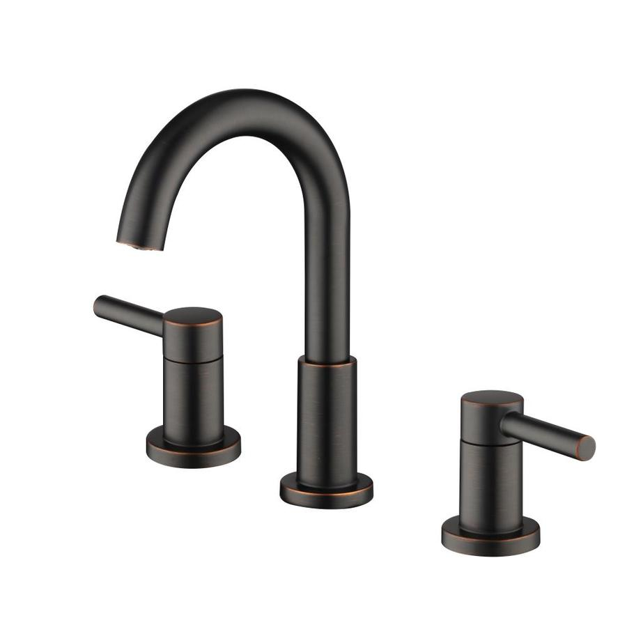 jacuzzi duncan oil rubbed bronze 2 handle 8 in widespread watersense bathroom sink faucet with drain lowes com