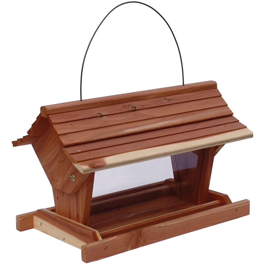 Shop Garden Treasures Cedar Platform Bird Feeder At