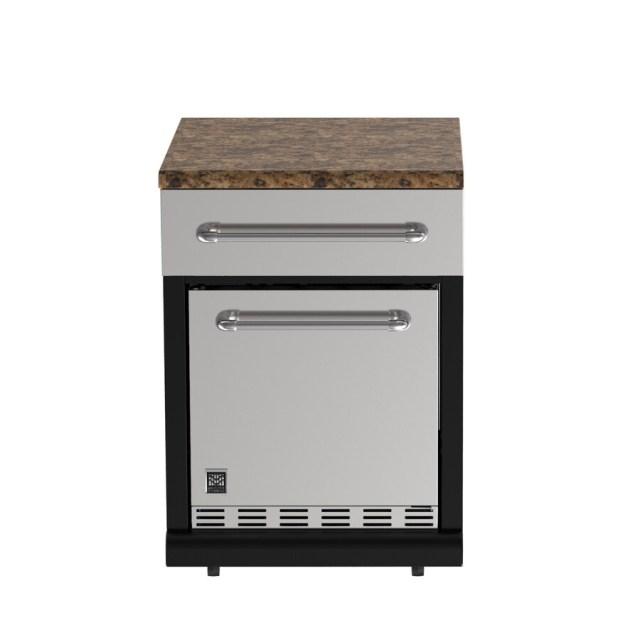 master forge modular outdoor kitchen bg179b modular refrigerator at