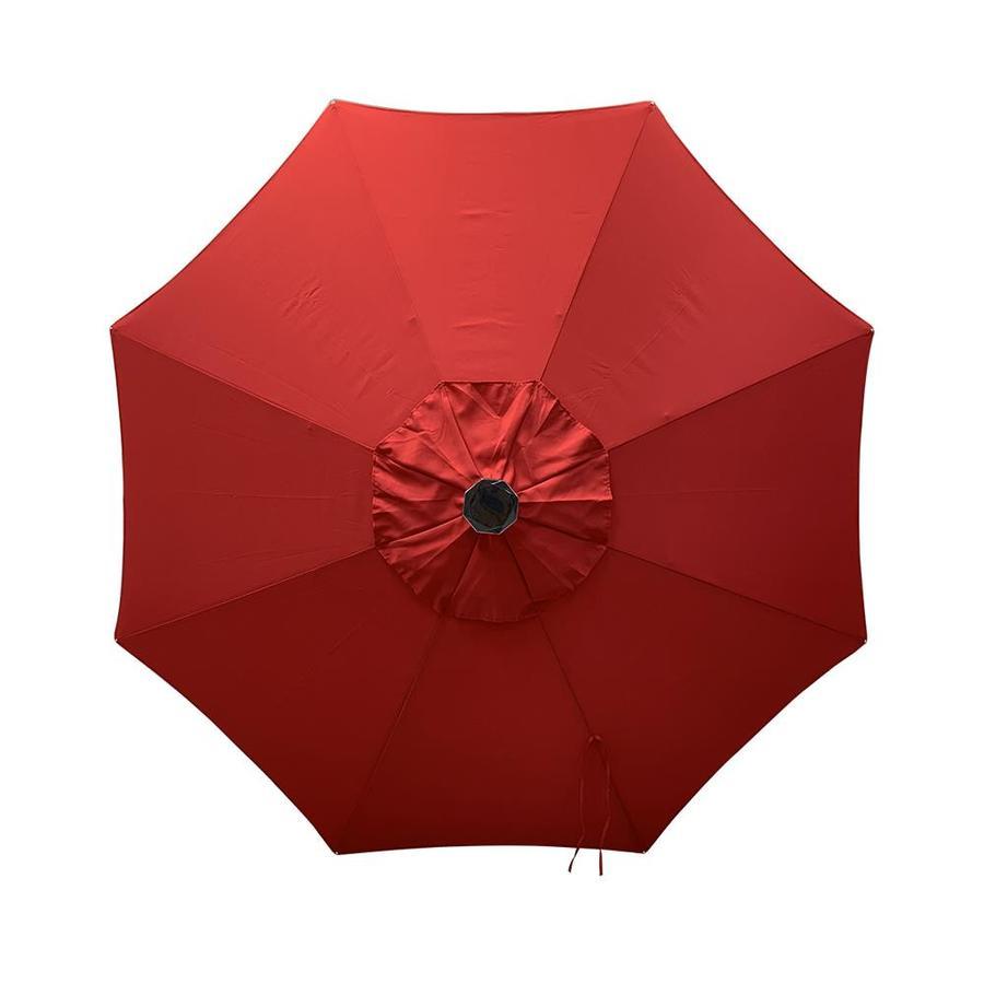 Shop Simply Shade Red Market Prelit 9ft Patio Umbrella