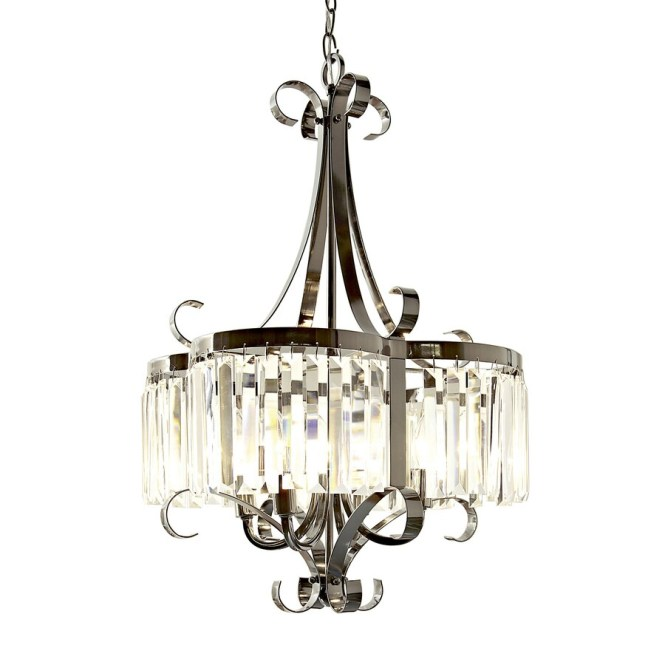 Style Selections 18 In 4 Light Black Chrome Clear Glass Standard Chandelier