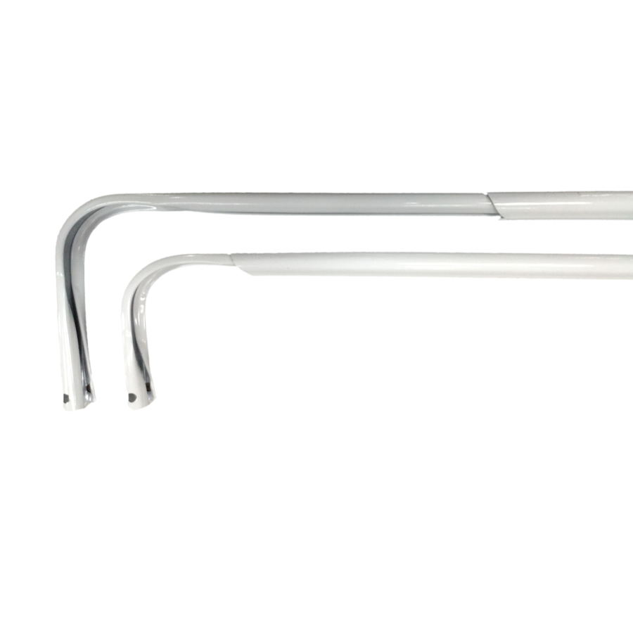 project source 28 in to 48 in white steel double curtain rod