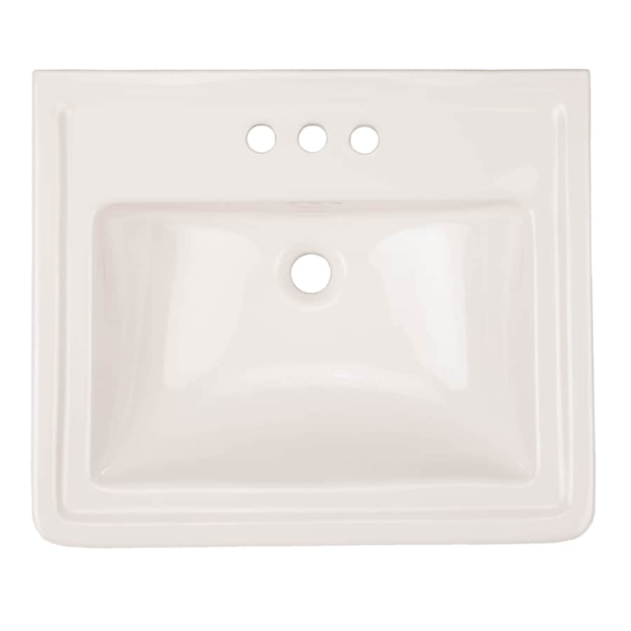 aquasource 33 6 in h white vitreous china pedestal sink