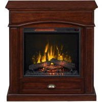 Shop Style Selections 36.5-in W 5,200-BTU Warm Cherry Wood ...