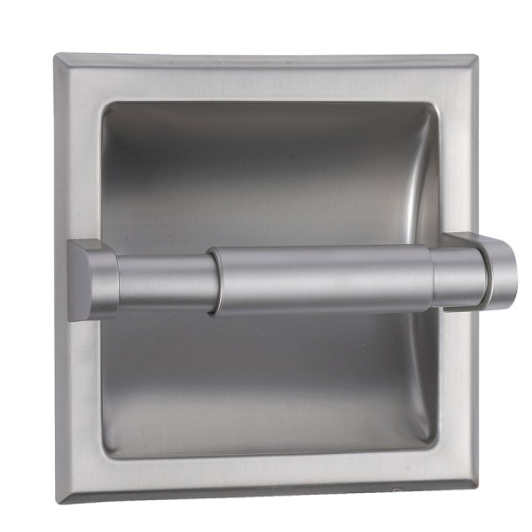 Style Selections Seton Brushed Nickel Recessed Toilet