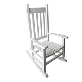 rocking chair white outdoor cover hire oswestry patio chairs at lowes com garden treasures with slat