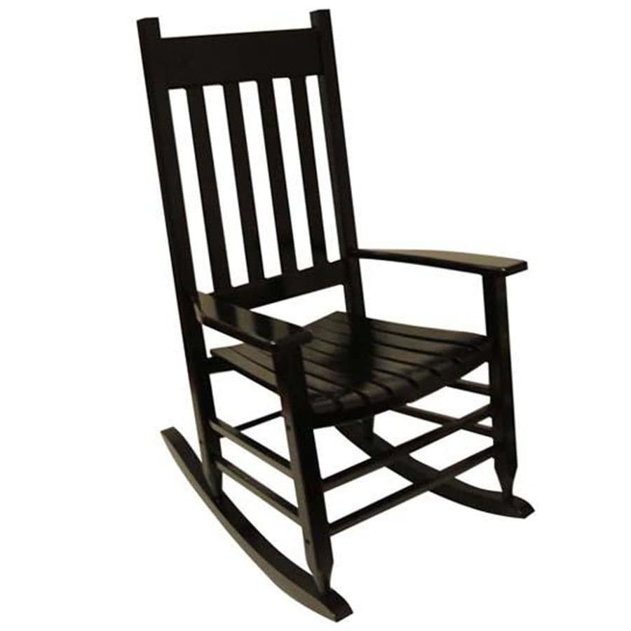 Lowes Outdoor Rocking Chair Garden Treasures Wood Rocking Chair With Slat Seat At Lowes