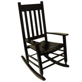 rocking chair white outdoor summit trophy patio chairs at lowes com garden treasures acacia with slat