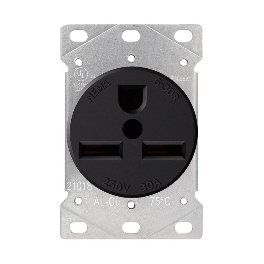 medium resolution of utilitech black 30 amp round industrial outlet