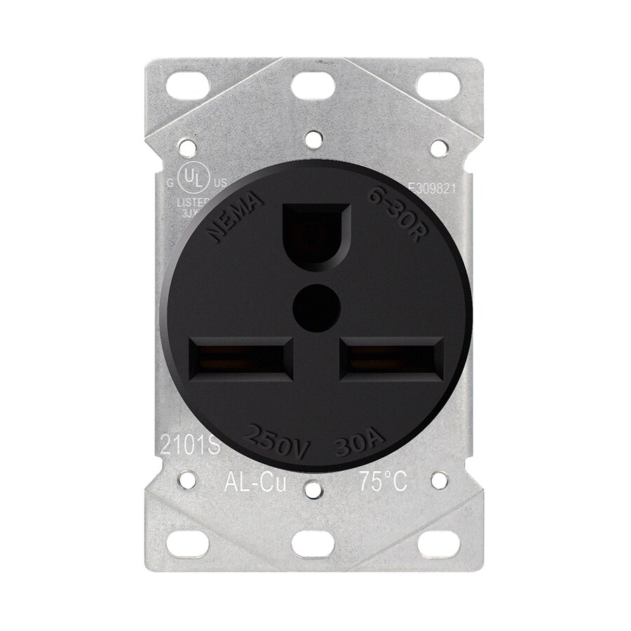hight resolution of utilitech black 30 amp round industrial outlet