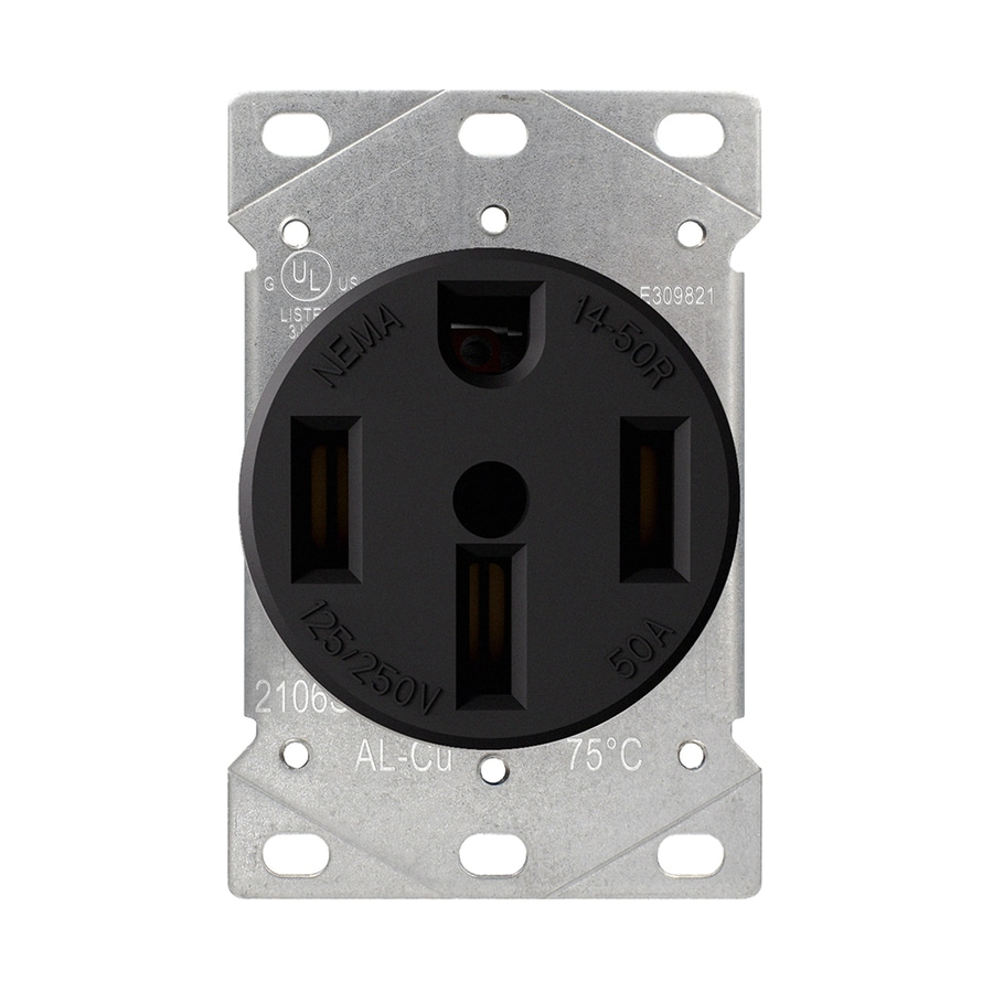 medium resolution of utilitech black 50 amp round industrial range at lowes com stove wiring installing a range outlet recessed style 50 share the