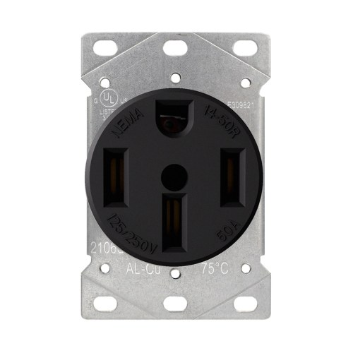 small resolution of utilitech black 50 amp round range power outlet industrial