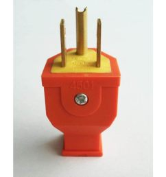 project source 15 amp volt orange 3 wire grounding plug [ 900 x 900 Pixel ]