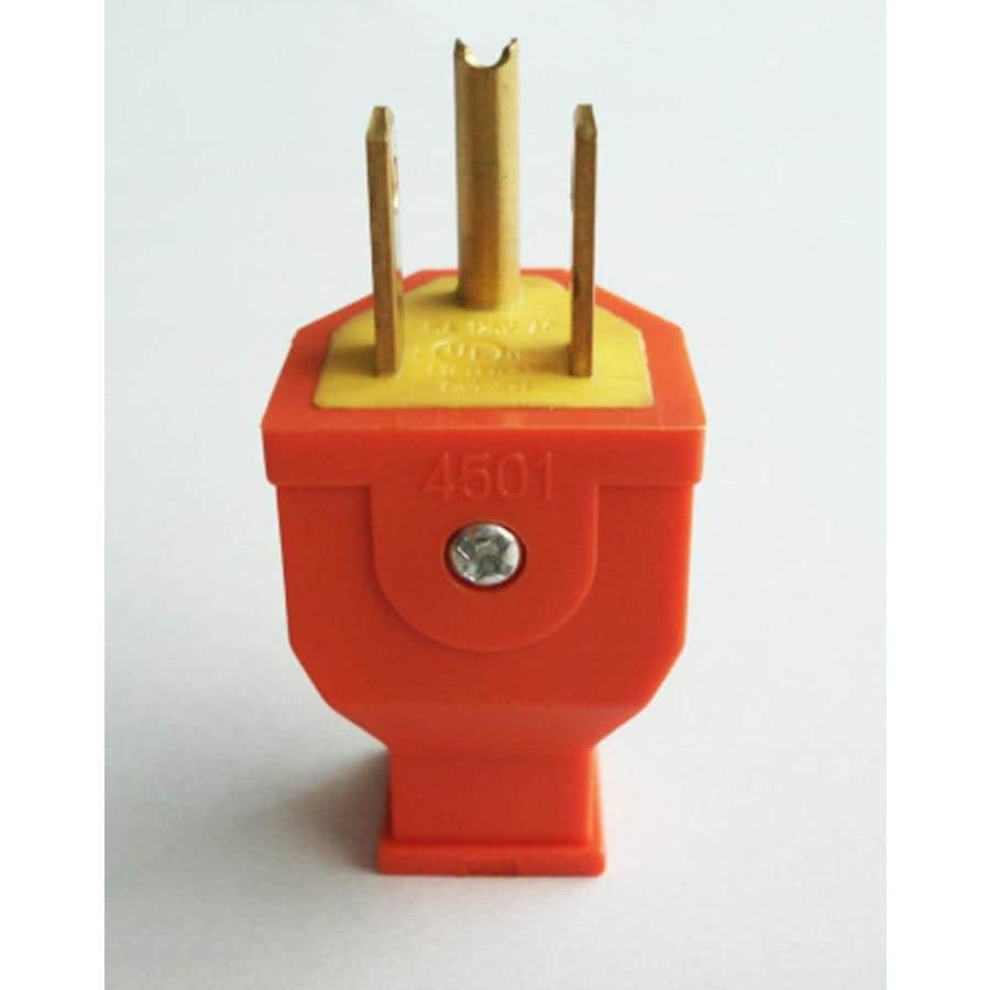 medium resolution of project source 15 amp volt orange 3 wire grounding plug at lowes com 3 prong 110v plug wiring diagram