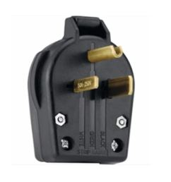 utilitech 50 amp volt black 3 wire plug at lowes com 220 amp wiring connectors [ 900 x 900 Pixel ]