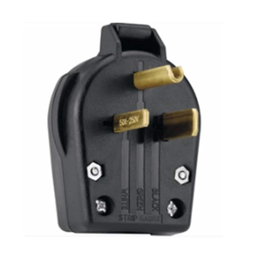 hight resolution of utilitech 50 amp volt black 3 wire plug at lowes com 3 wire 220 plug wiring diagram