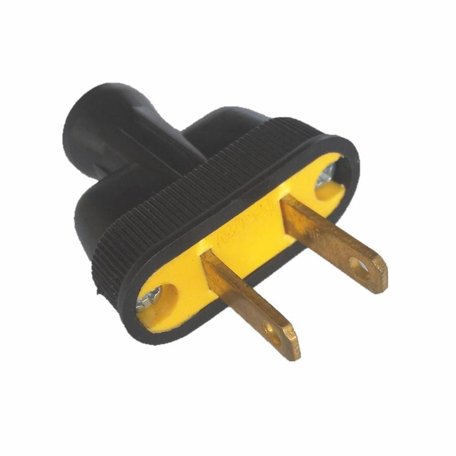 hight resolution of project source 15 amp 125 volt black 2 wire plug