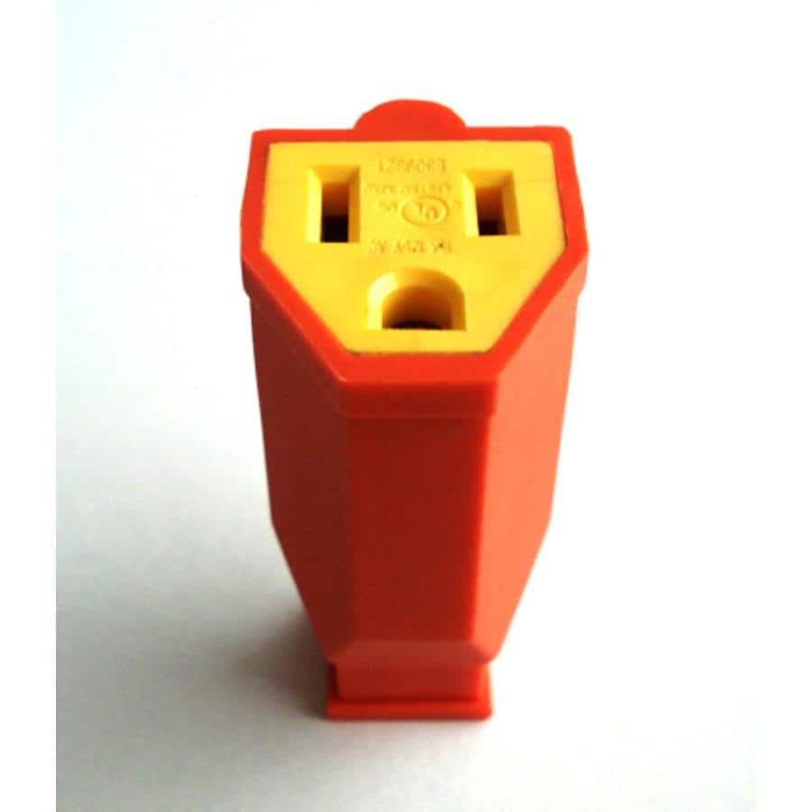 hight resolution of project source 15 amp volt orange 3 wire grounding connector