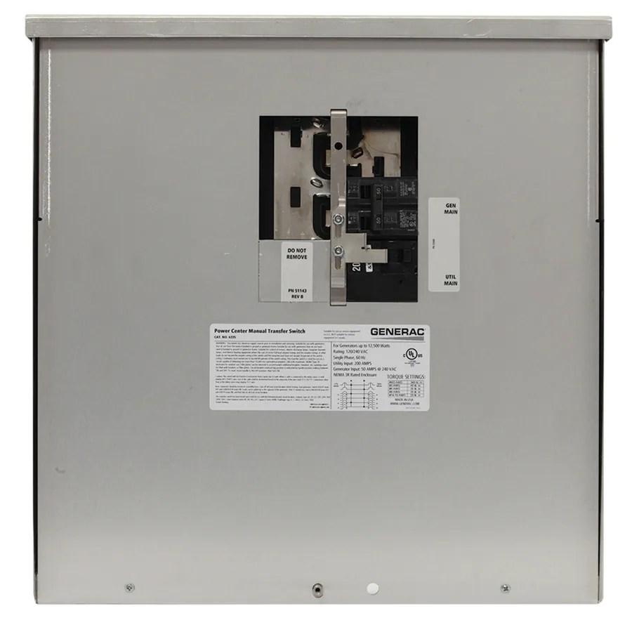 200 Amp Manual 200 Amp Manual Transfer Switch