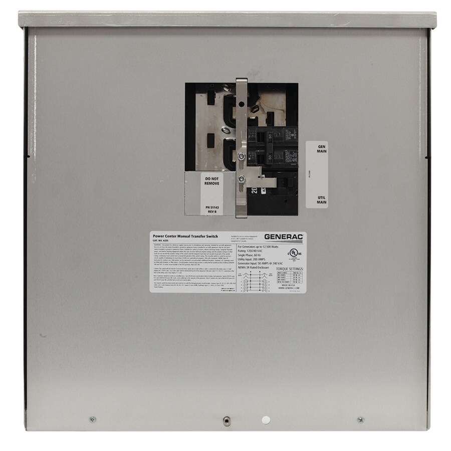 generac generator transfer switch wiring diagram kia rio 2009 radio shop 200-amp manual at lowes.com